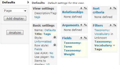 View taxonomy